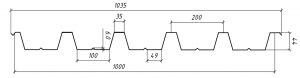 Геометрия профнастил ПК45 Н45