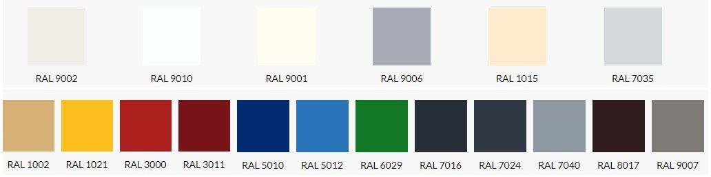 PIR панели цвета